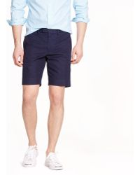 J.Crew Bowery Slim Short in Cotton Twill - Lyst