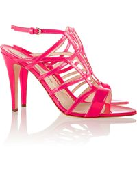 Brian Atwood Patent-leather Sandals - Lyst