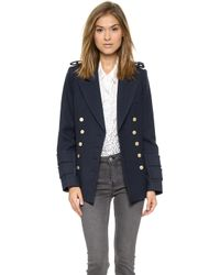 Smythe - Military Pea Coat - Dark Navy - Lyst