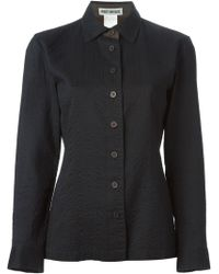 Issey Miyake Ribbed Buttoned Jacket - Lyst