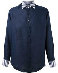 Etro Contrast Stripe Shirt - Lyst
