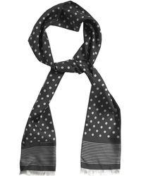 Dolce & Gabbana Polka-Dot Print Silk Scarf - Lyst