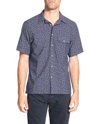 Haspel - 'martin' Trim Fit Floral Print Sport Shirt - Lyst