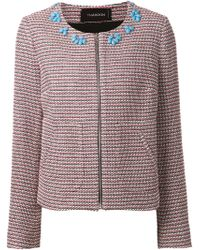 Thakoon Embellished Zipped Cardigan - Lyst
