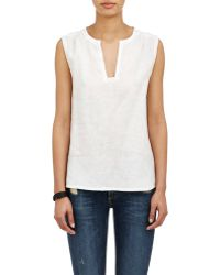 Barneys New York Slub Sleeveless Top - Lyst
