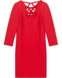 Diane Von Furstenberg 34 Sleeved Cut Out Dress - Lyst