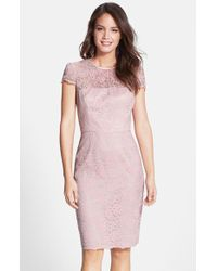 Maggy London  Lace Midi Dress - Lyst