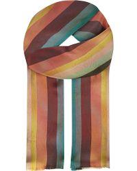 Paul Smith Black Label - Mainline Stripes Silk Scarf - Lyst