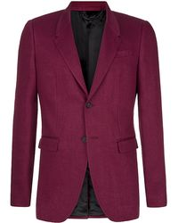 Burberry Prorsum Tailored Linen Jacket - Lyst