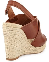 Vc Signature - Davena Leather Wedge Espadrille - Lyst