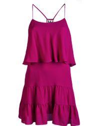 Haute Hippie Ruffle Tank Mini Dress - Lyst