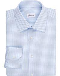 Brioni Check Shirt - Lyst
