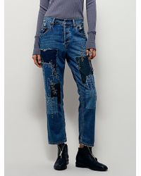 Free People | Womens Sanborn Embroidered Jean | Lyst