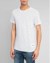 G-Star RAW White Striped Wanvic T-Shirt - Lyst