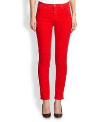 Jen7 Brushed Sateen Skinny Jeans - Lyst