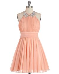 City Triangles Peach To Meet You Dress - Lyst