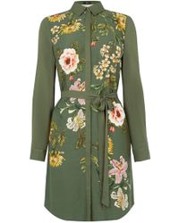 Oasis | Opium Visc Print Shirt Dress | Lyst
