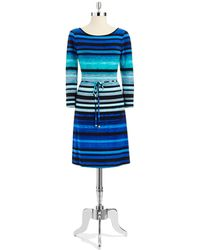 Ivanka Trump Striped Tunic Dress - Lyst