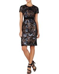 BCBGMAXAZRIA Kristan Floral Sequined Shift Dress - Lyst