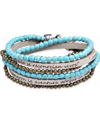 Platadepalo - Bracelet With Leather And Turquoise - Lyst
