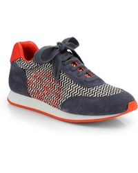 Tory Burch Delancey Graphicprint Sneakers - Lyst