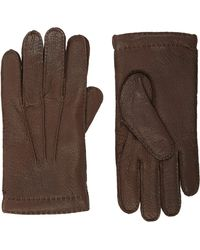 Barneys New York Peccary Leather Gloves - Lyst