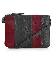 Topshop  Faux Leather Bag With Genuine Calf Hair Trim  - Lyst