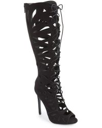 Topshop | Ravishing Lace-Up Peep-Toe Boots | Lyst