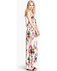 H&M Maxi Dress with A Frill - Lyst