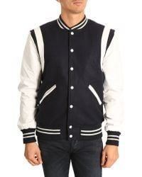 Selected To Colour Jacket Leather Detail Varsity - Lyst