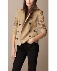 Burberry Cotton Poplin Trench Jacket - Lyst