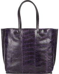 Zagliani Ayer Leather Reversible Tote - Lyst
