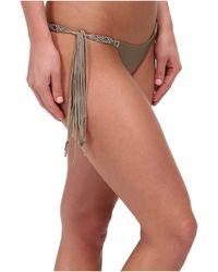 ViX Solid Shitake Tri Macramé Tie Brazilian Bottom - Lyst