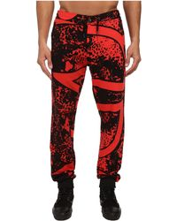 Versace Jeans Red Printed Sweatpant - Lyst
