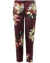Erdem Gianna Gardenprint Silk Trousers - Lyst