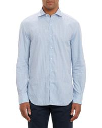 Barneys New York Check Shirt - Lyst