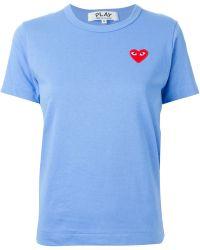 Play Comme des Garçons Embroidered Heart T-Shirt - Lyst