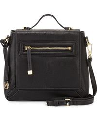 Halston Heritage Leather Flap Crossbody Bag - Lyst