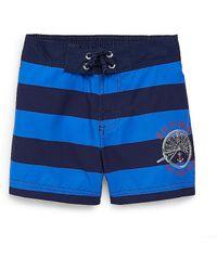 Tommy Hilfiger Shipwheel Stripe Swim Trunk - Lyst