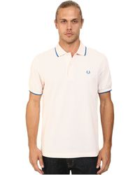 Fred Perry Twin Tipped Polo pink - Lyst