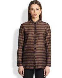 Burberry Striped Cottonsilk Shirt - Lyst