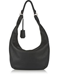 Diane Von Furstenberg Sutra Crescent Textured-leather Shoulder Bag - Lyst