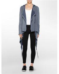 Calvin Klein White Label Performance Hooded Flyaway blue - Lyst