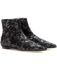 Dolce & Gabbana Sequined Ankle Boots - Lyst
