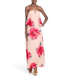Way-in - Strapless Popover Maxi Dress - Lyst