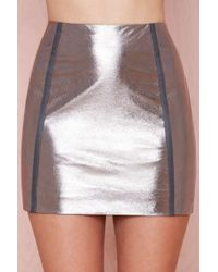 Nasty Gal Flashback Metallic Skirt - Lyst
