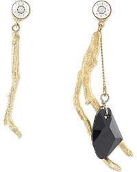 Dries Van Noten Brass Twig Earrings - For Women - Lyst