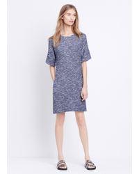 Vince Ikat Print Silk Maxi Dress - Ink/Off White - Lyst