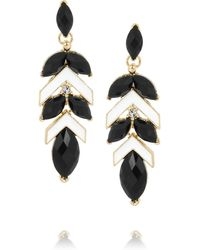 Kenneth Jay Lane 22karat Goldplated Resin and Crystal Earrings - Lyst