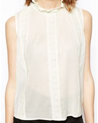 Asos Top with Pretty Frill Detail - Lyst